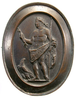 Emperor Claudius shown as Jupiter