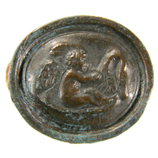 Cameo. Eros and swan