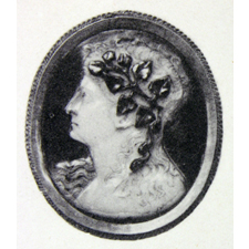 Cameo. Bust of Dioynsos