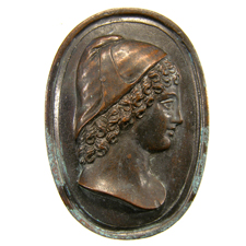 Cameo.  Head of youth