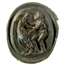 Cameo. Satyr and nymph