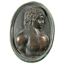 Cameo. Bust of Antinoos