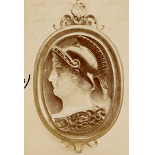 Cameo. Bust of warrior