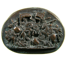 Cameo. Cavalry fight