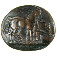 Cameo. Two horses