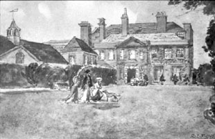 Watercolour of Lewis House