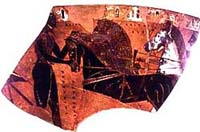 Fragment of Athenian black-figure vase