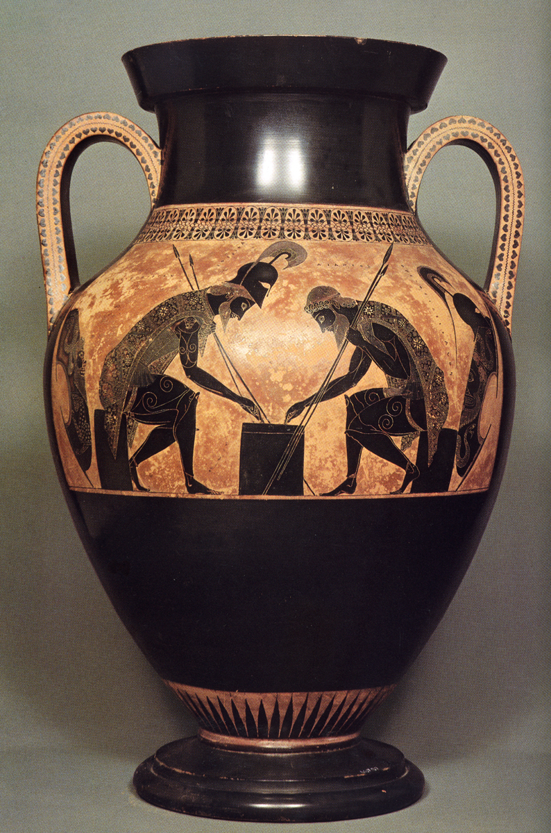 Greek vases 800 300 bc key pieces the classical art research centre exekiass vatican amphora floridaeventfo Image collections