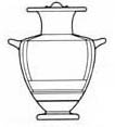 Drawing of hydria shape