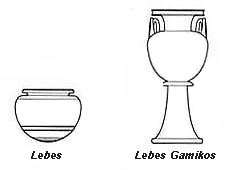 Drawing of lebes and lebes gamikos