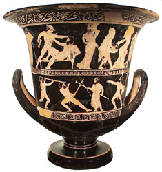 Athenian red-figure calyx-krater ht. 39.5cm