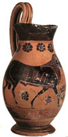 Attic black-figure olpe (Type 2)