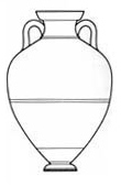 Drawing of Panathenaic prize amphora