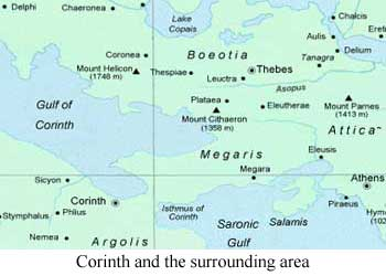 Map of Corntharea
