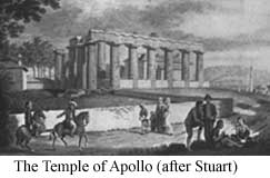 Drawing of Temple of Apollo