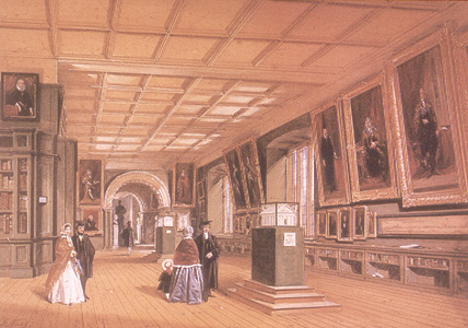 Photo of painting of Bodleian picture gallery