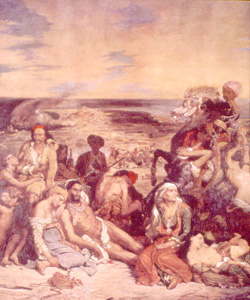 Photo of Delacroix's Massacre painting