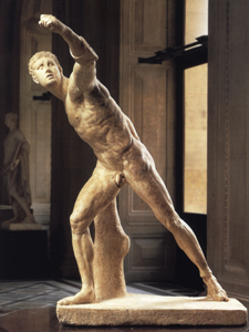 Photo of marble Borghese gladiator