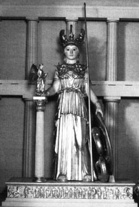 Photo of model of Athena Parthenos