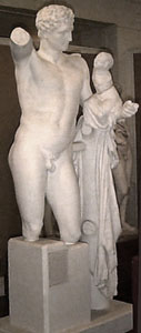 Photo of Cast of statue group - Hermes holding infant Dionysos