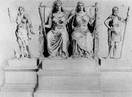 Statue group of goddesses