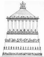 Drawing of Mausoleum reconstruction