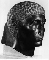 Photo of head of man from Egypt