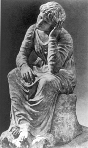 Statue of mourning slave