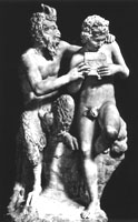 Group statue - Pan teaches Daphnis