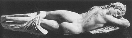 Statue of sleeping Hermaphrodite