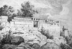Drawing of heroon, Trysa